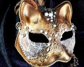 Fantasy Vintage Cat Mask