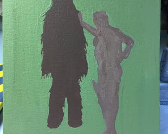 Han and Chewy Silhouette
