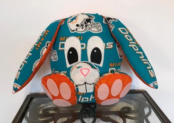 Miami Dolphins Handmade Stuffed Bunny Etsy