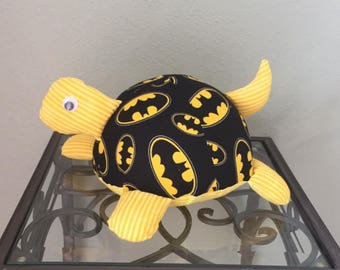 Batman Handmade Stuffed Turtle