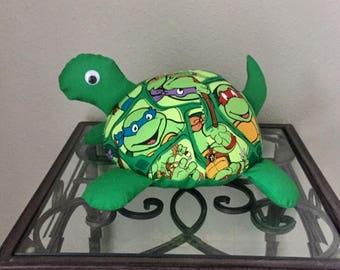 Teenage Mutant Ninja Turtle Handmade Stuffed Turtle