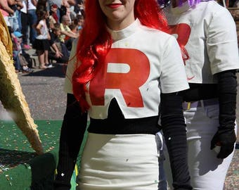 Team Rocket Top Jessie and James Pokemon Cosplay