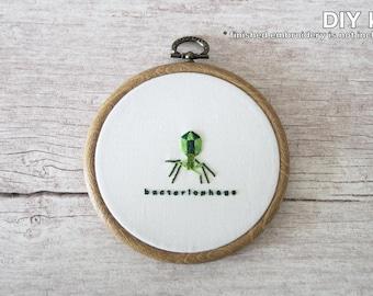 Bacteriophage DIY Scientific Hand Embroidery Kit - Beginner Level