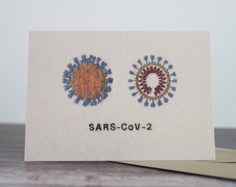 SARS-COV-2 Coronavirus COVID19 Isolation Greeting Card - Single