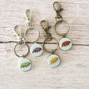 comes in a gift box Mitochondrion tiny embroidery can be finished as KeychainPinBookmarkNecklaceRuler