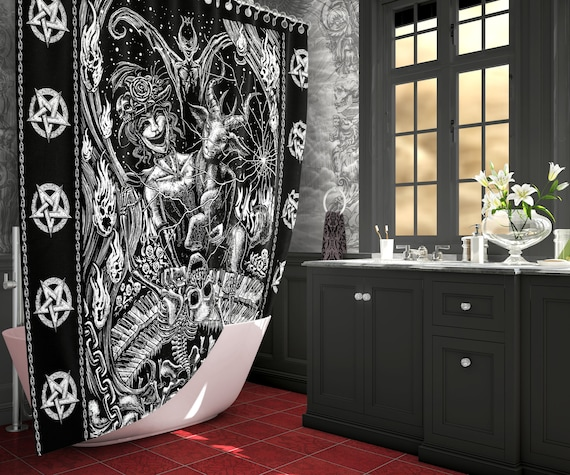 Gothic Fantasy Art Shower Curtain Goth Home Decor Etsy