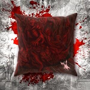 Demon Hell Unicorn Decorative Pillow