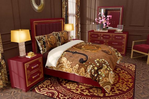 Dragon Bedding Set Duvet Cover Or, Dragon Bedding Sets Queen
