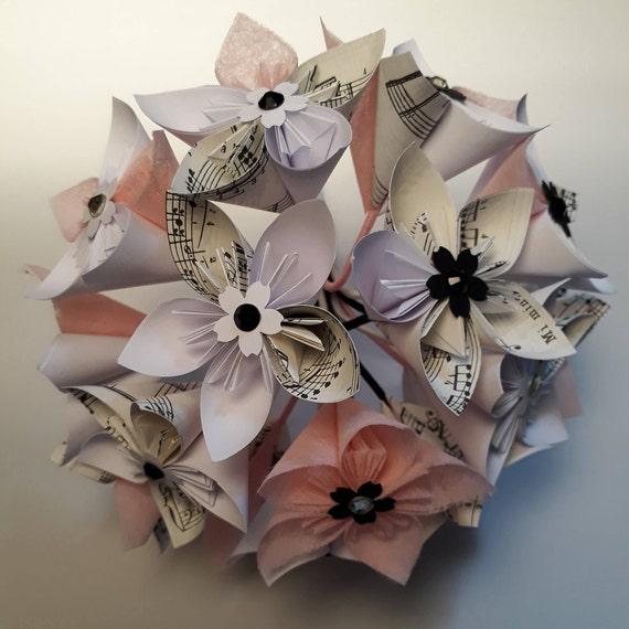 Mazzo Di Fiori Origami.Mazzo Di Fiori Di Carta Origami Etsy