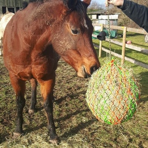 2-14 Mesh  Hang up or Toss out in your field Heavy Duty hay net
