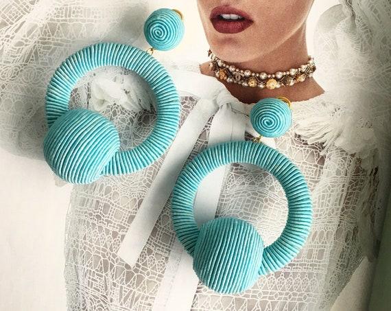 Turquoise Earrings Les Bonbons