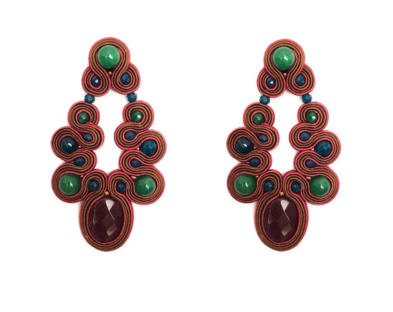 Garnet MENARA earrings