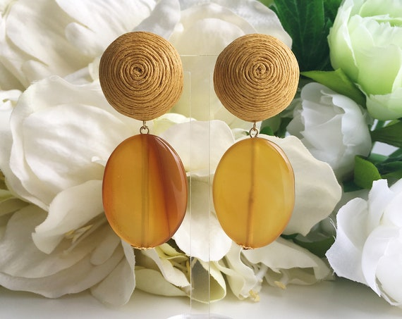 Mustard Stones Earrings