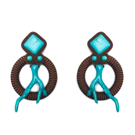 Brown CORAL Earrings