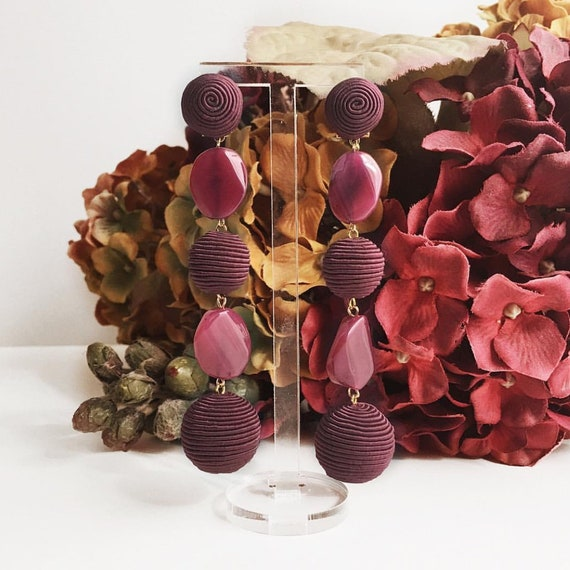 Garnet Stones Earrings