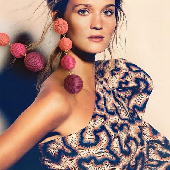 Les Bonbons pink earrings