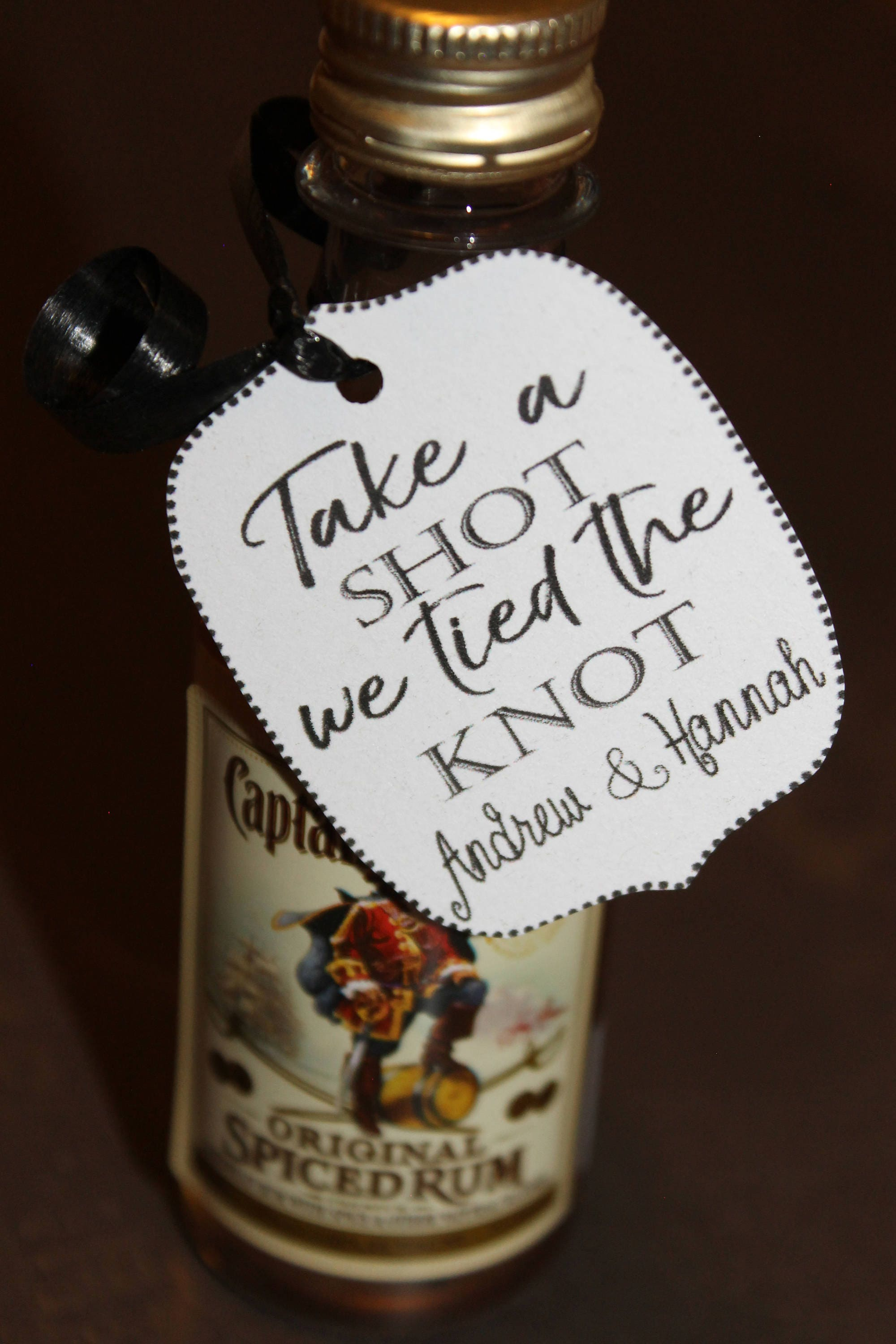 40 TAGS take a shot we tied the knot wedding reception favor