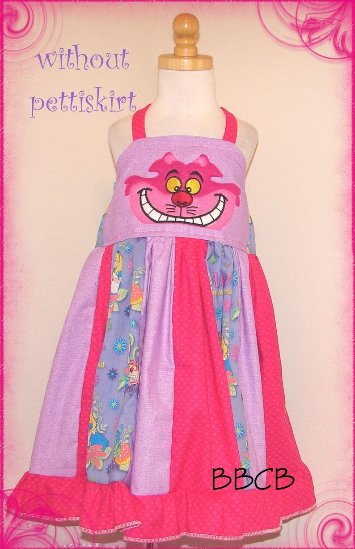 Ready to Ship fits aprxx 34T 4 Twirl Tea Party WONDERLAND Crazy Mad Cat Dress Birthday Party Girls
