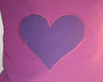 Application purple heart pillow cover