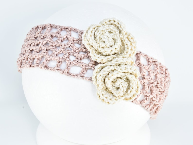 baby shower gift girls christening shoes Powder pink crochet baby shoes and headband Easter headband newborn baby outfit