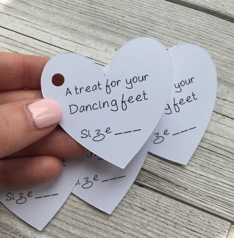 679e40591 Wedding flip flop tags slipper tags treat for your dancing