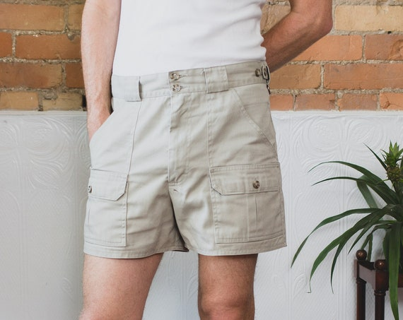 "Vintage Tilley Shorts - Size 35"" Beige Short Hiking Shorts - Tilley Endurables Khaki Safari Jungle Explorer Shorts - Indiana Jones Vibes"