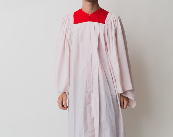 Vintage Men's Choir Gown - Pink and Red Graduation Robe