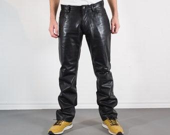 f3640c4f0dde1 Vintage Mens Black Leather Pants - W32 GAP Pants