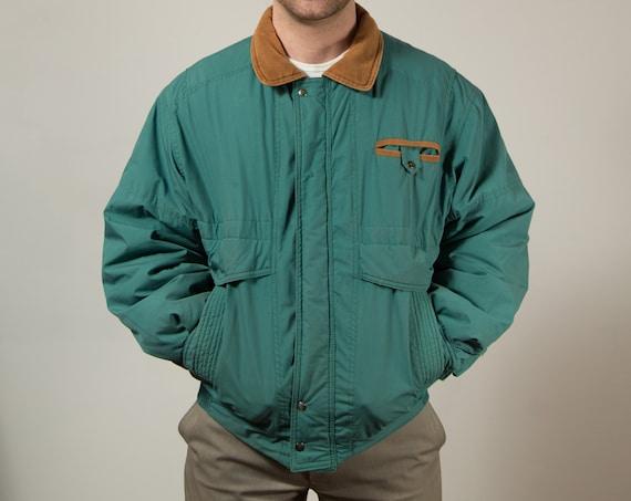 Vintage Green Spring Jacket / Size 42 Men's Soft Green Windbreaker Coat / Casual Man by Utex