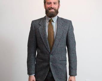 e162e7123831 Vintage Tweed   1970 s Mens Charcoal Grey Wool Holt Renfrew Sports Coat    Pure Virgin Wool Jacket   Union Made by Alexander Julian   Size 38