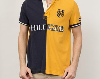 c5e38c8e585 Vintage Men's Polo Shirt - Tommy Hilfiger Retro Medium Size Casual Short  Sleeved Sporty Athletic Summer Beach Golf Shirt - Made in USA