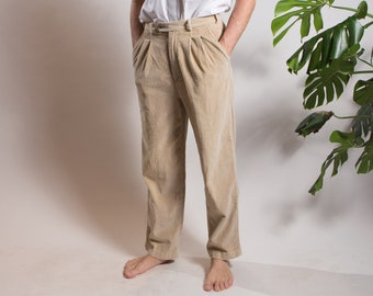Mens Pleated Pants Etsy