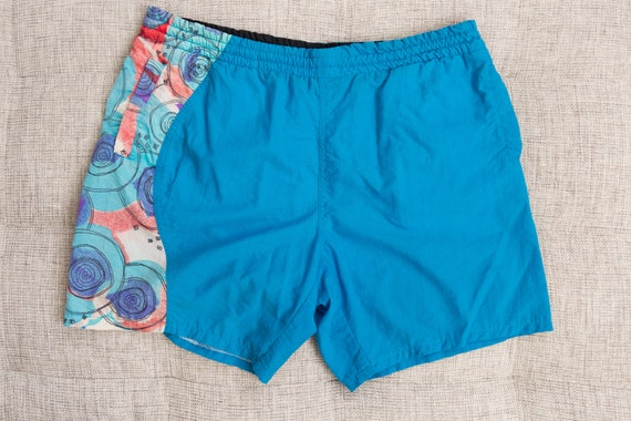Vintage Swim Shorts - 90's Large Size Retro Men's