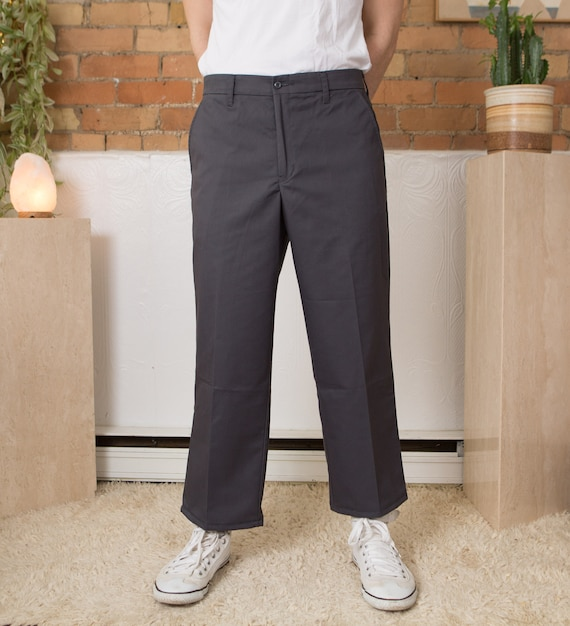 Vintage Mens Grey Utility Pants - W32 Uniform Pant