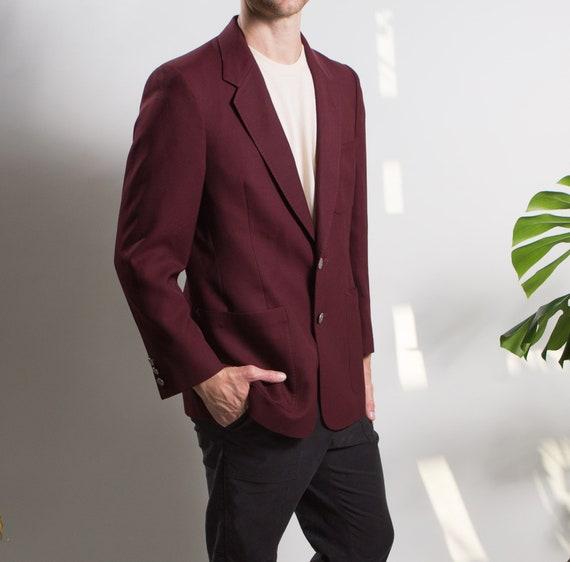 Men's Red Velvet Blazer - Medium Size Velvet Red … - image 8