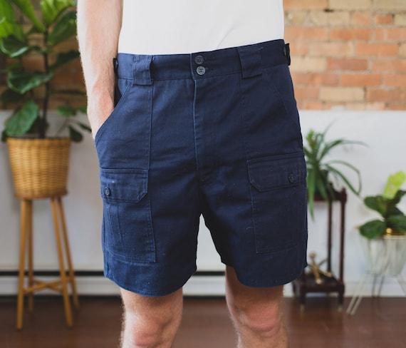 "Vintage Tilley Shorts - Size 34"" Navy Blue Hiking Shorts - dark Blue Tilley Endurables Safari Jungle Explorer Trunks - Indiana Jones Vibes"