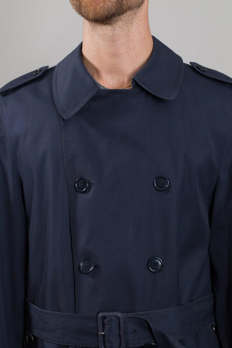 Vintage Blue Overcoat Men/'s Mod Lightweight London Fog Long Medium Size Jacket with Removable Lining