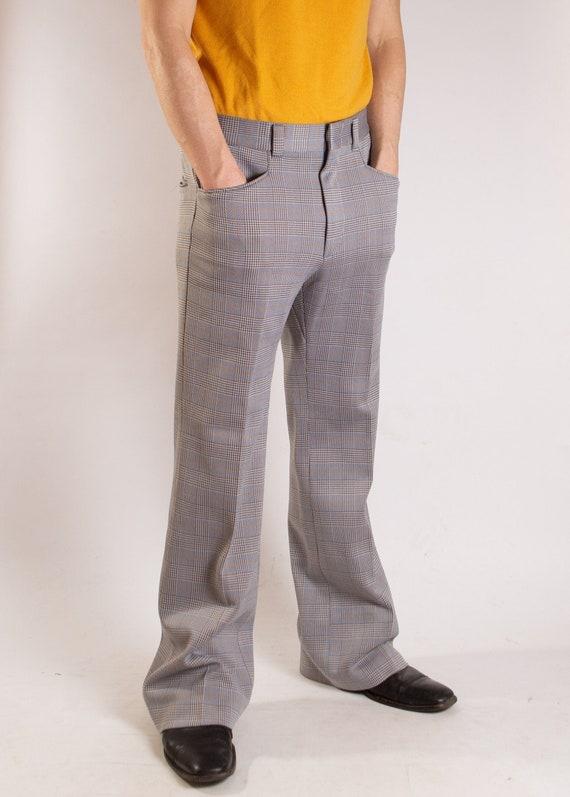 Levis Pantela Pants - Vintage Mens Plaid Trousers