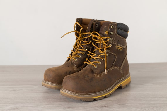 Men's Workers Boots - Size 10W Lace Up Brown Dakota Construction Boots
