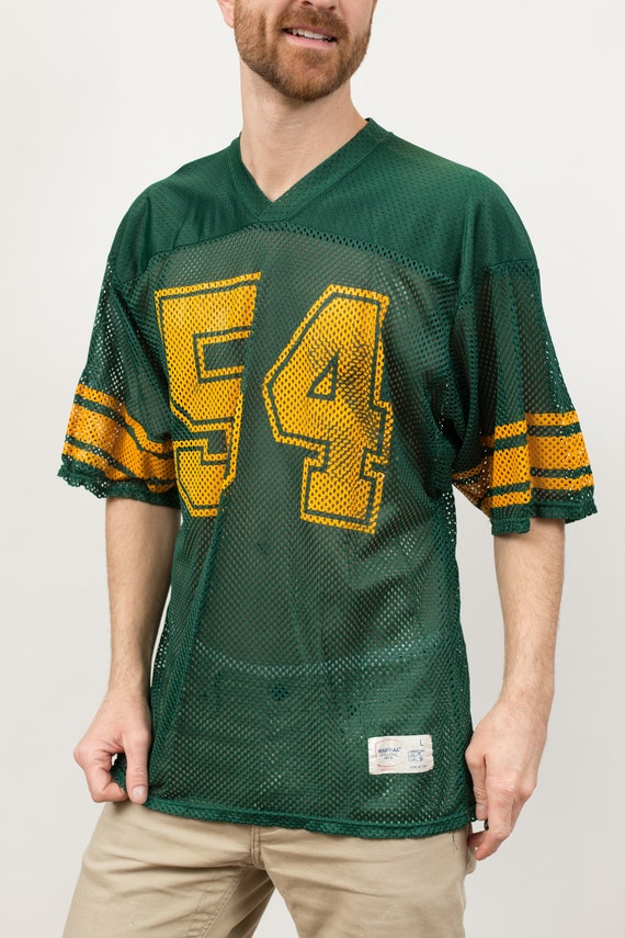 Vintage Mesh Football Jersey Shirt - Men's Large Number 54 Sporty Athletic Tee - Vintage T-shirt - Made in USA
