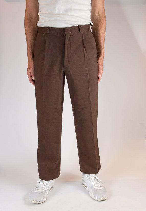Vintage Men's Brown Formal Pants - Wedding Groom o