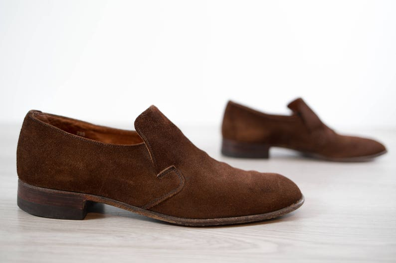 25f830c7f0eae Vintage Suede Shoes / 1970's Size 8 Mens Brown