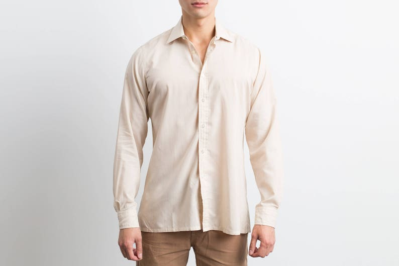 67666d91e59 Vintage Yves Saint Laurent Dress Shirt / YSL British Crown of | Etsy