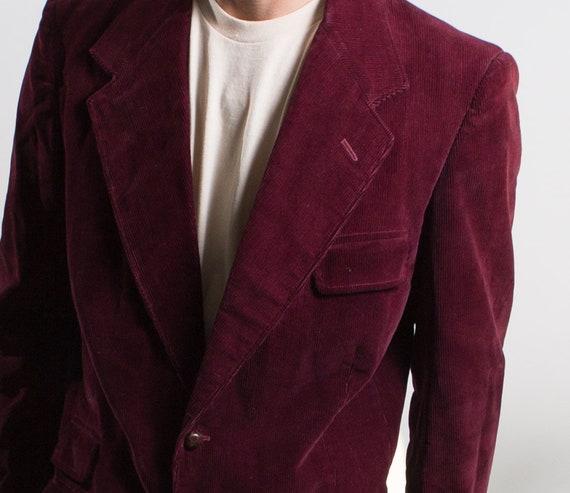 Men's Red Velvet Blazer - Medium Size Velvet Red /