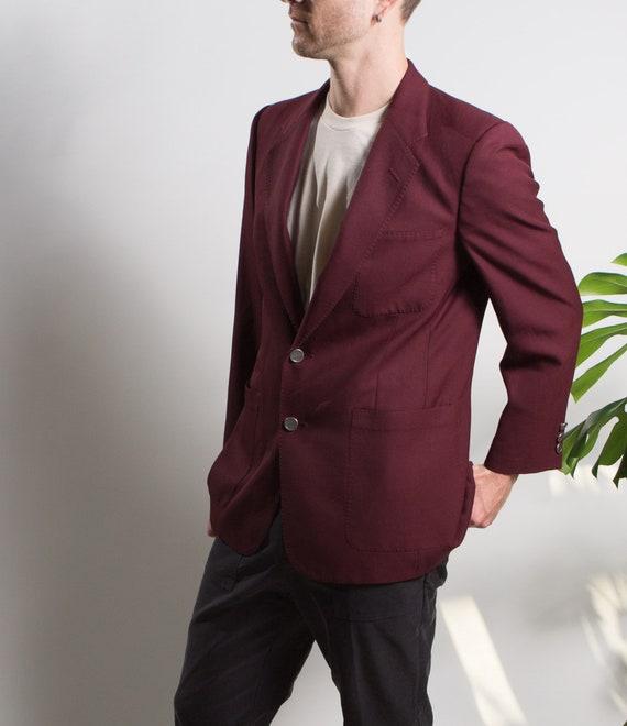 Men's Red Velvet Blazer - Medium Size Velvet Red … - image 6