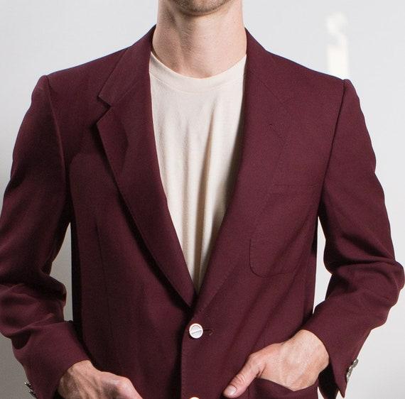 Men's Red Velvet Blazer - Medium Size Velvet Red … - image 7