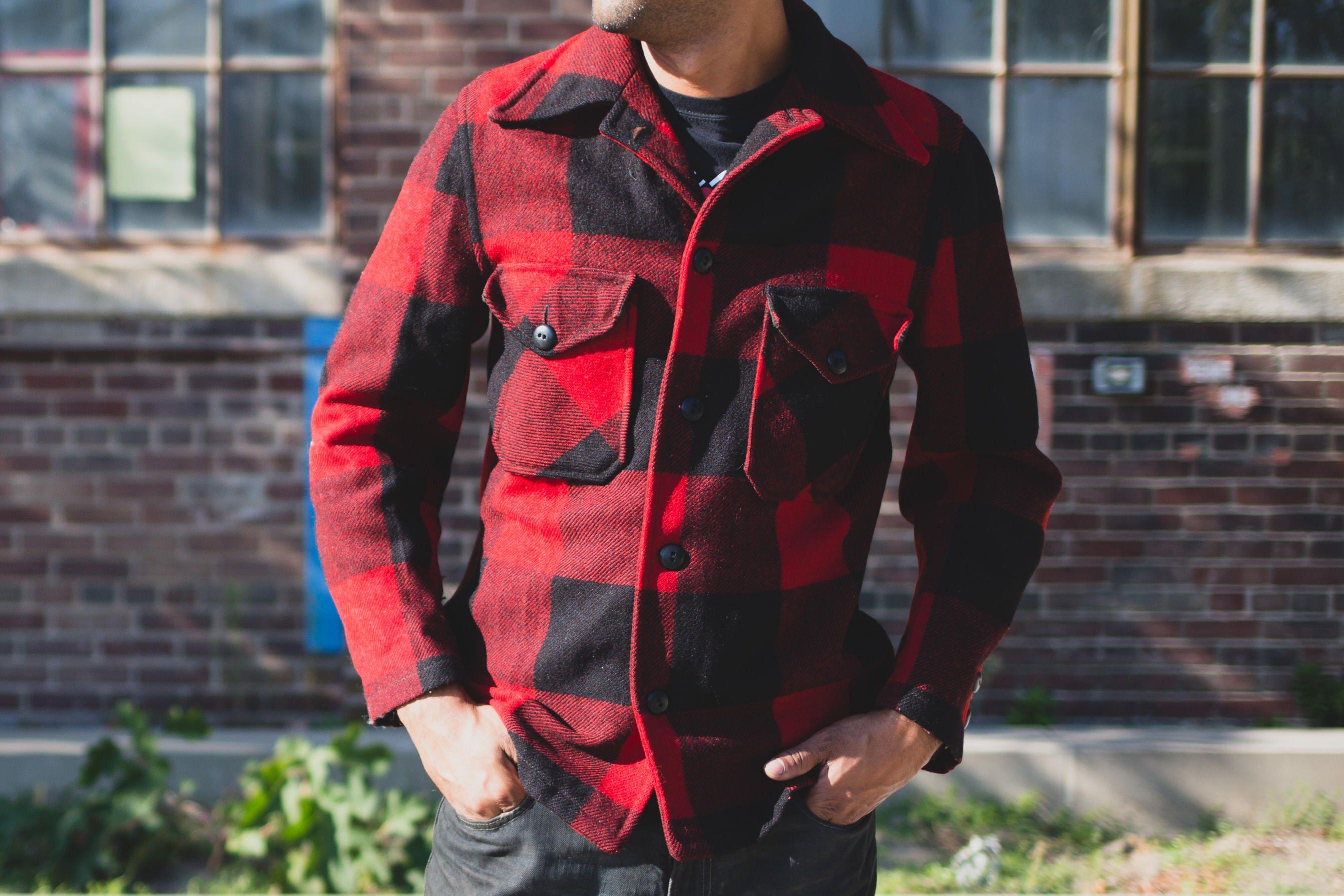 Octave Mens Warm Polar Fleece Padded Lumberjack Winter Shirt Jacket