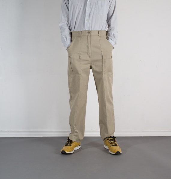Vintage Mens Beige Trousers - W33 Hiking Pants - Tilley Endurables Women's Khaki Slacks