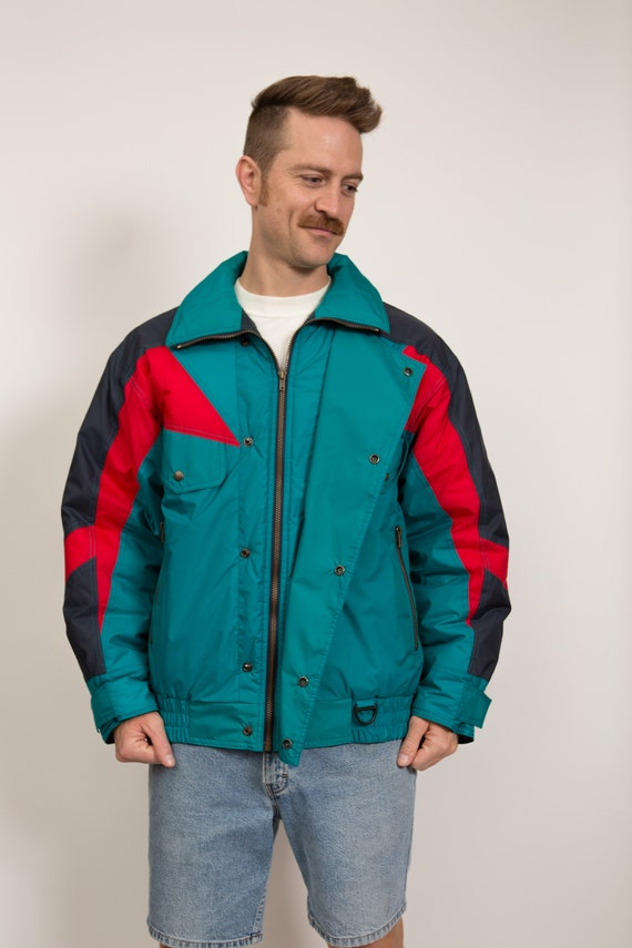 "Vintage Ski Jacket - 90's Men's Medium Sundance ""Hershey Alpine Allstar"" Boarding Jacket - Warm Winter Coat"