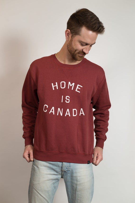 Vintage Home Is Canada Sweater - Peace Collectibe Cotton Pullover with Canadian Pride - Men's Women's Medium Patriot Shirt